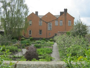The garden, taken from the riverside terrace where William and Dorothy would chase butterflies